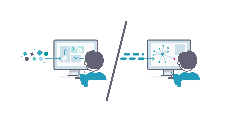A fire hose of data versus structured data