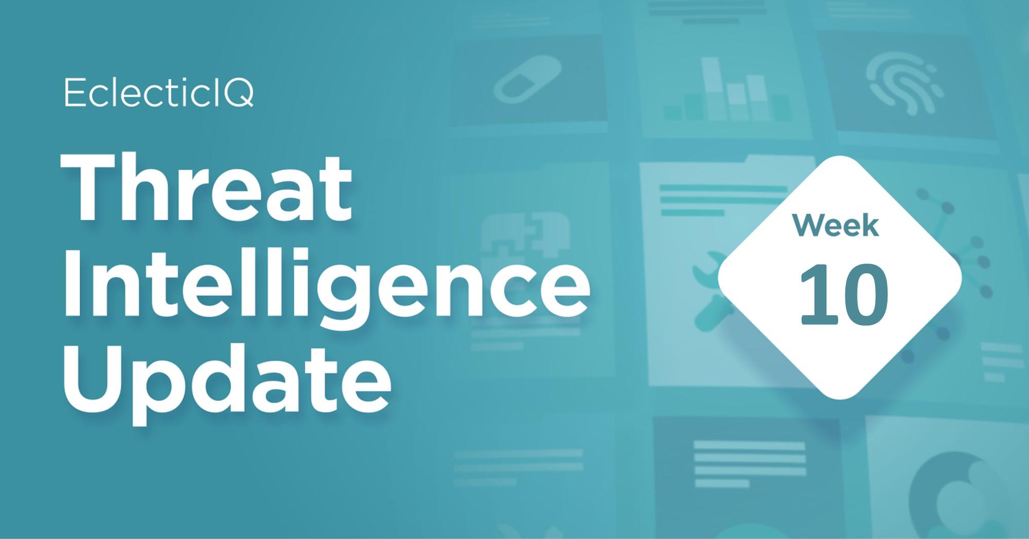 Biweekly Threat Intelligence Update Week 10